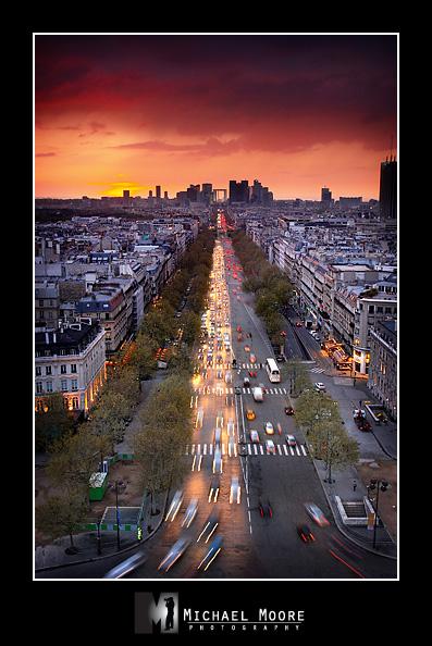 paris, france, arc de triomphe, avenue de la grande armee