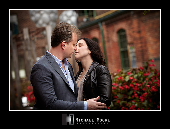 engagement session at the distillery district