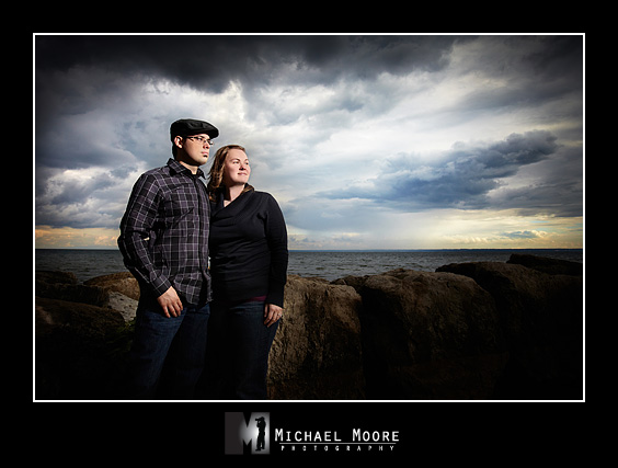 dramatic engagement session