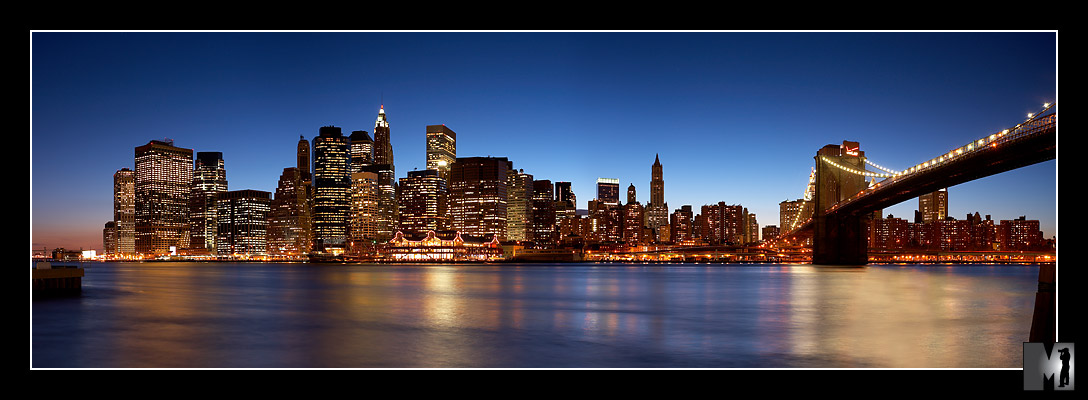 new york city at night skyline. New York, New York!